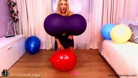 Balloons Breast Inflation by JessyAdams