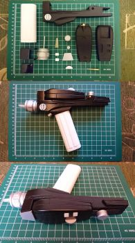 Early TOS white handle phaser 3D print by thefirstfleet