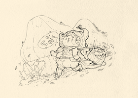 Inktober day 9 - Green Pickers by clover-teapot