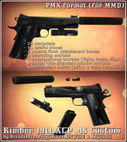 [MMD] Kimber 1911 ACP .45 (pmx Download) by Riveda1972