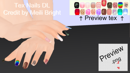 (Mmd) Tex Nails DL by Meili-Bright