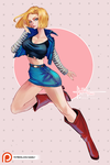 Android 18 [NSFW Ver. Available!] by Hassly