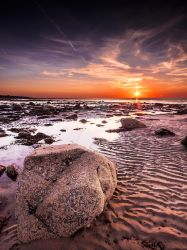 Late Summer Sunset at Dinas Dinlle Beach by Sjones69