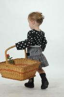 Toddler with basket by stockmichelle