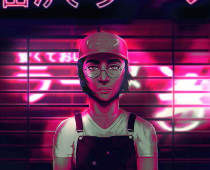 Neon Girl by DamisDesigns