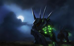 Hunters at night by Demonplay