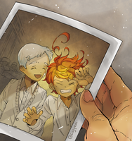 The Promised Neverland 32 - Norman and Emma by Lazyeol