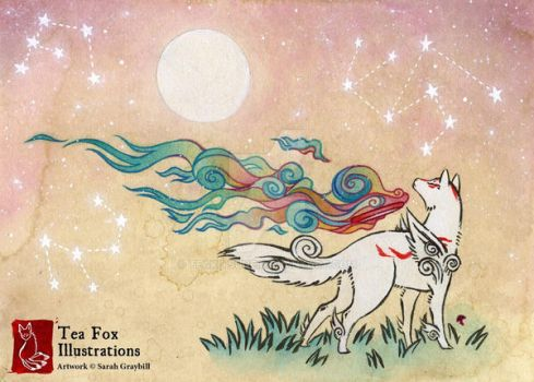 Amaterasu by TeaKitsune