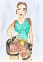 TR5 Lara Croft drawing by Badty92