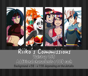 Waist up commissions [read description] by RiikoChick