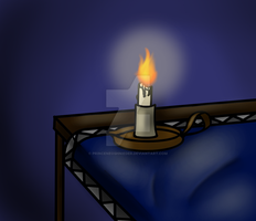 Candle Lit Room by PrinceNeoShnieder
