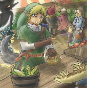 Pranked At Hyrule Market by Jo-Onis