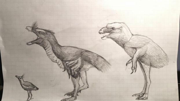 A selection of flightless Enantiornithines by Thobewill