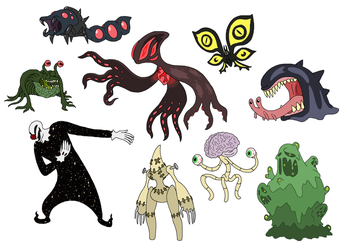 Creature doodles: eldritch 3 by JWNutz