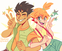brock 'n misty! by fawnshy
