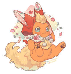 Dress up Flareon by goodnightherb