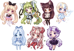 C: Teeny Tiny Chibi Batch 04 by KirasElixir