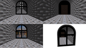 MMD Cement Window Room Stage by mbarnesMMD