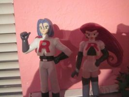 Team Rocket Figures by Kabuki-Sohma