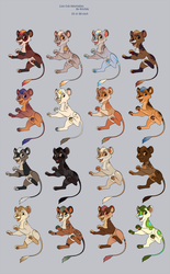 Lion Cub Adoptables by Kitchiki