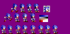 Sonic Fates: Sonic Sprites WIP by bennascar