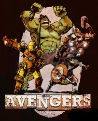 steampunk avengers by BrianKesinger