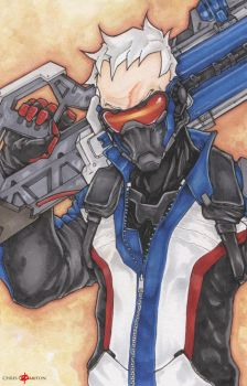 Soldier 76 Overwatch by ChrisOzFulton