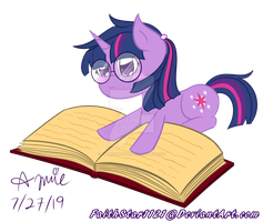 Twilight with her book