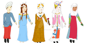 Middle Ages Dress Up Game (12-15th Century) by xVanyx