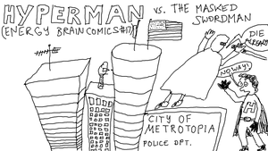 EBC #17: Hyperman vs. The Masked Swordsman by EnergyBrainComics