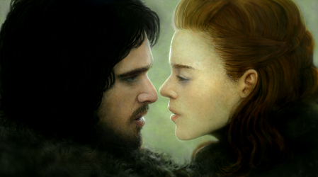Jon and Ygritte by modji-33