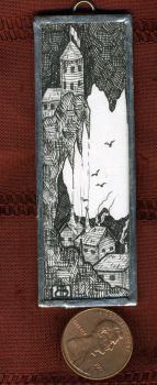 Cave Town - Mini Art Jewelry by MetallicVisions