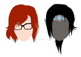Vahl and Cywren Vector Portraits by BenPlus