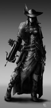 The Assassin - Female Archer Concept 2 by BladeofGoth