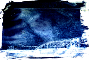 Dreamland Margate - Cyanotype by thevdm