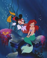 Ariel Meets Mickey by DylanBonner