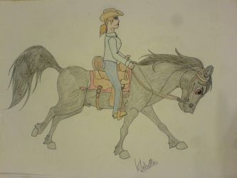 Cally Loping Jesse by StarCrossedPsycho