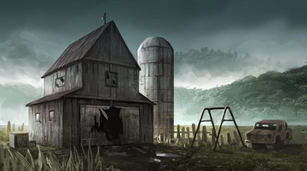 Barn by MarcJosephArt