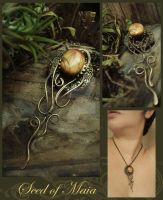 Seed of Maia in Amber by LuthienThye