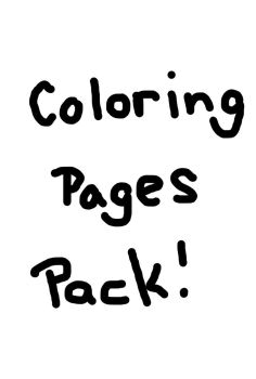 Coloring page pack! (test) by SapphireAngelBunny