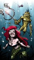 mermaid and Flounder by flavianos