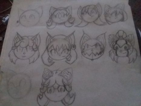 Bat character heads/hairstyles by openyourheart2