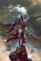 Sathariel, Angel of Deception by PeteMohrbacher