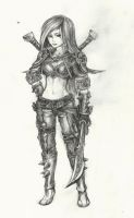 League of Legends: Katarina Sketch by chesisbest