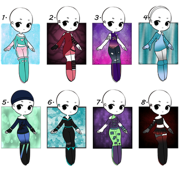 4/8 Open - Adopt Batch 06 - Misc. Outfits by Adopts-and-Designs