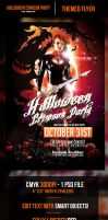 Halloween Crimson Party Flyer Template by odindesign