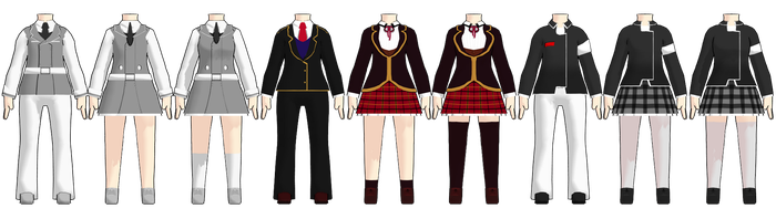MMD Chibi RWBY School Uniform DL by 2234083174