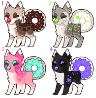 Doughnut dog auction adopts - closed by Flaamez-Adopts