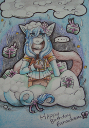 Sketchbook Page 3: Birthday gift for Evphaedrielle by acid-flier