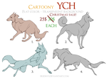 [ONE LEFT] SALE Cartoony canine YCH by Eredhys